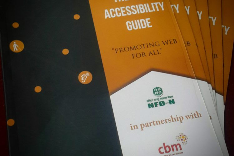 The Web Accessibility Guide. Published by NFDN with CBM. Author - Aayush Shrestha