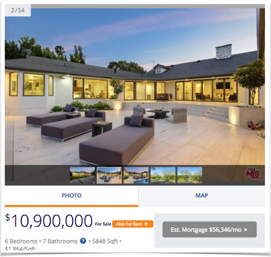 Using big pictures from different angles for selling houses online